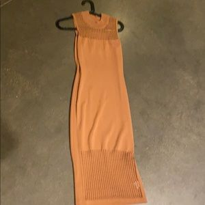 Caramel cutout Midi dress